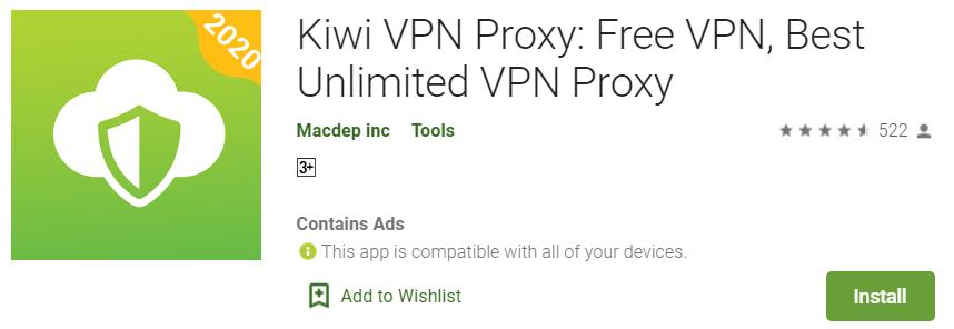 Install kiwi vpn for PC 1