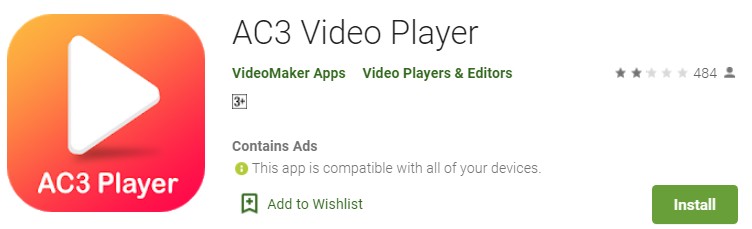 AC3 VIDEO PLAYER FOR PC